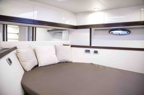 Double cabin of the Stealth 50 charter yacht