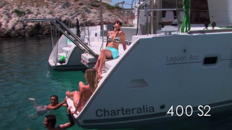 Excursion with the catamaran Lagoon 400 in Ibiza