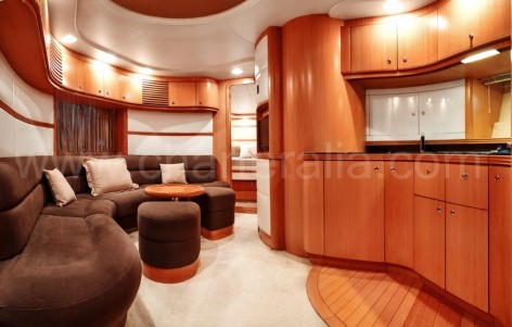 Interior of the Baia Aqua 54 yacht for rent in Ibiza