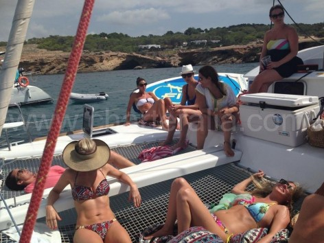 One day excursions with a catamaran in Ibiza and Formentera