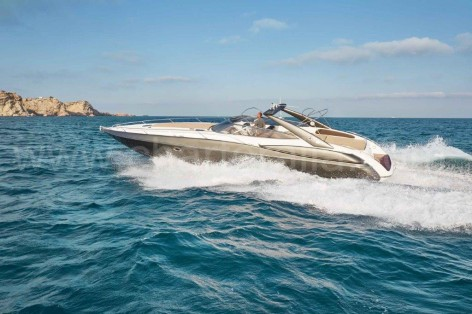 Power yacht rental in Ibiza Sunseeker Superhawk 48
