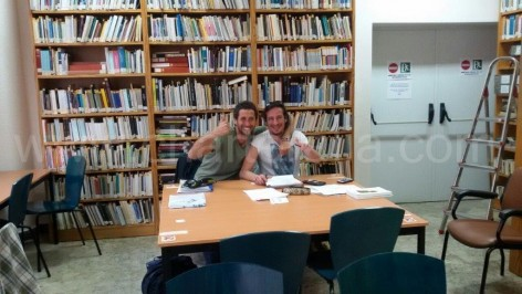 Studying at the library of Ibiza