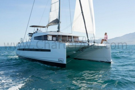 Bali 43 yacht with skipper for week charter