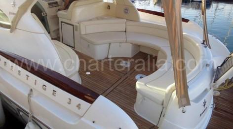 Cockpit of Prestige Jeanneau 34 in Balearic Islands