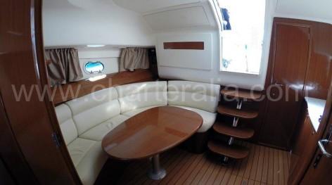 Lounge of Jeanneau chartering yacht in Ibiza