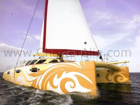 Cat 210 yacht with skipper for week charter