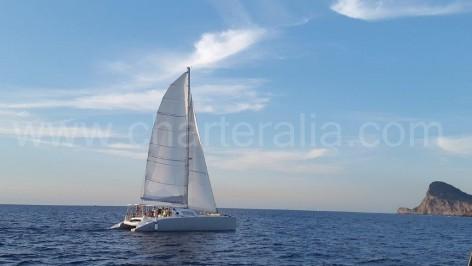 Yacht charter in Ibiza for Cat 52 catamaran