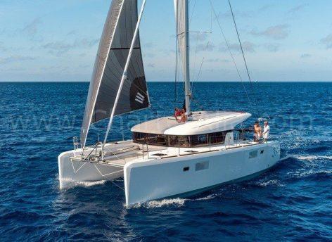 39 Lagoon catamaran weekly charter with skipper in Balearic Islands