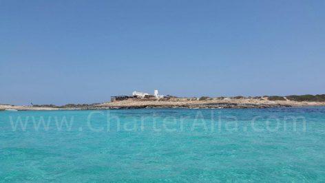 General view from the restaurant Es Moli de la Sal in Formentera