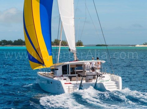 Sailing with Lagoon 39 yacht hire in Formentera and Ibiza