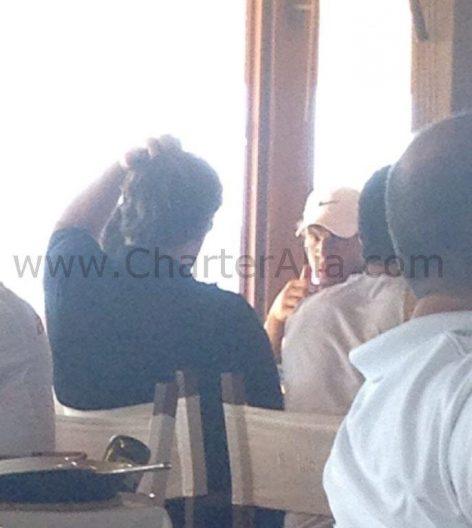 The famous tennis player Rafa Nadal eating at Es Moli de la Sal