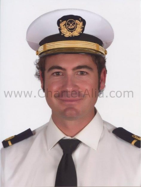 Yacht rental in Ibiza skipper Mario Arias