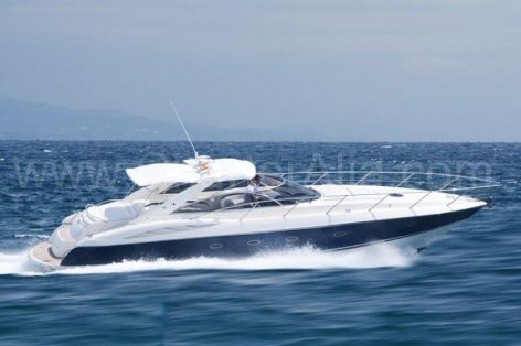 Amazing Sunseeker 46 power yacht for rent in Ibiza