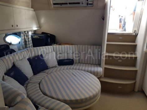 Convertible living room Ibiza boat hire