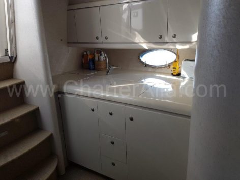 Galley of motor vessel for rent in Ibiza