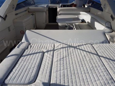 New upholstery rent a yacht in Ibiza