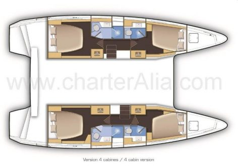 Floor plans of Lagoon 42 boat for rent in Eivissa