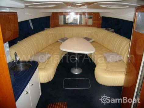 Salon of power yacht Cranchi 39 boat for hire in Ibiza and Formentera