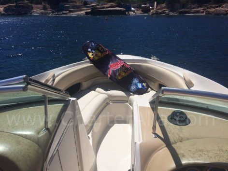 Watersports on Sea Ray power boat for rent in Ibiza and Formentera