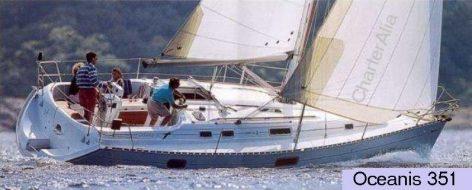 Sailboat hire in Ibiza Beneteau Oceanis 351 Clipper