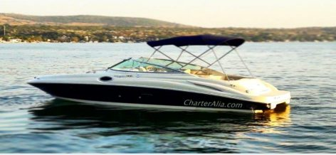 Motor boat charter in Formentera and Ibiza Sea Ray 27 feet