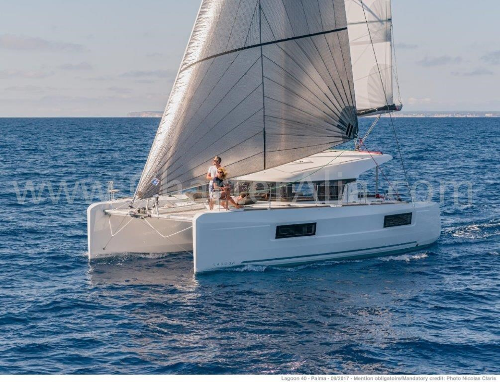 Lagoon 40 catamaran for hire in Balearic island