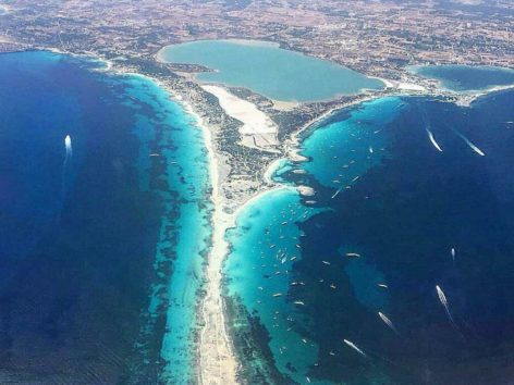 Formentera from the sky