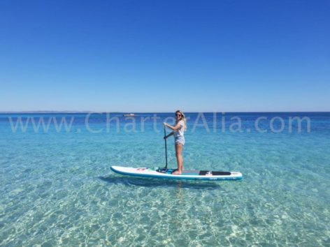 In this image without filters you can appreciate the incredible transparency of the waters of Formentera