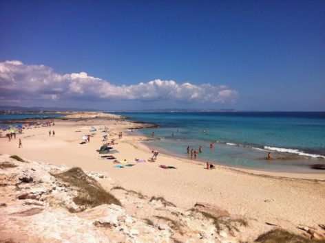 One of Formentera beaches