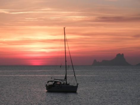 The sunset in Formentera is one of the favorite moments of CharterAlia customers