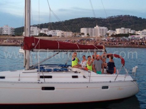 Sailboat for hen do in Formentera