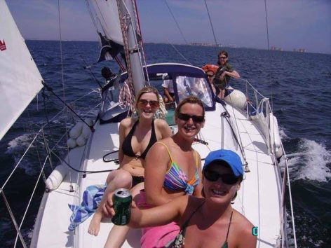 Sailing boat hire Ibiza hen party