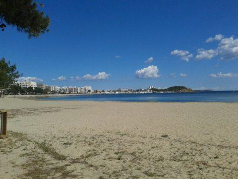 beach of santa Eulalia Ibiza