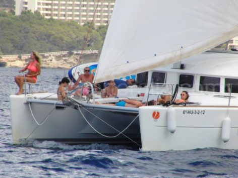 sailing with Genova in catamaran of Ibiza
