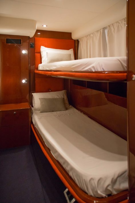 Cabin with bunkbeds in the yacht for rent in Ibiza Princess V58