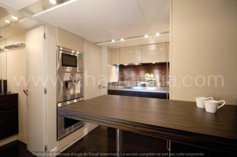 Canados 90 kitchen luxury yacht day charter ibiza