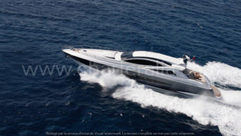 Canados 90 side view power motor yacht rental formentera