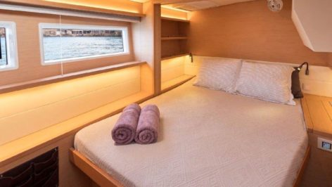 Lots of space inside the cabins of the Lagoon 52 catamaran thanks to a most efficient design