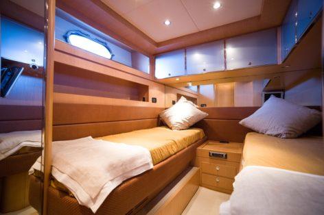Riva 68 Ego yacht twin cabin