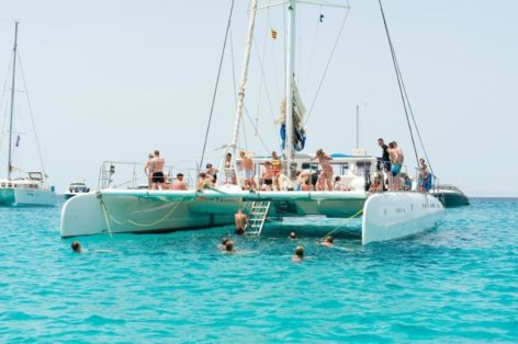 Visit Formentera on this amazing catamaran for 100 passengers