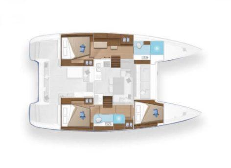 Catamaran Lagoon 40 Layout Map