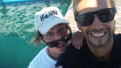 Zorrilla naviguant en Mediterranee a bord du yacht sur les iles pityuses