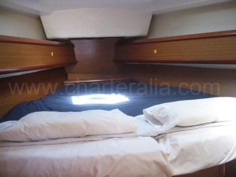 Cabine de proue embarcation excursion capitaine Ibiza