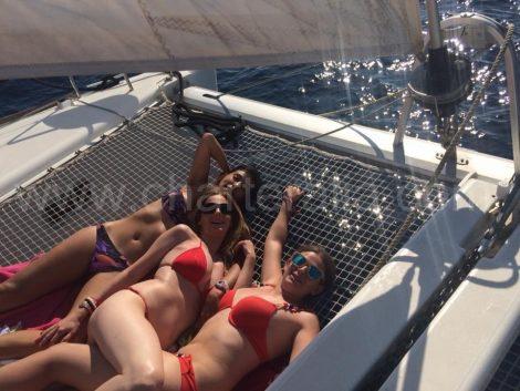 filet du catamaran Lagoon 400 a Ibiza pour une location d un jour