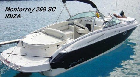 location bateau rapide a moteur Monterrey 268SC