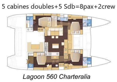 plan-lagoon-560-5-cabines-5-salle de bain 2-membres d'équipages