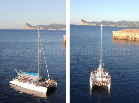 double photo catamaran ibiza