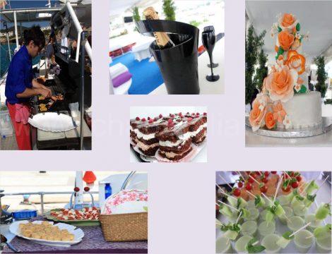 mariage et evenements sur le catamaran