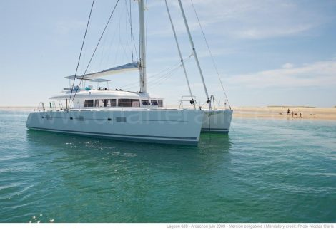 Luxueux catamanran lagoon 620 en location a ibiza et formentera