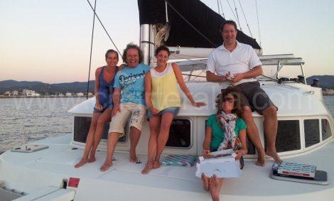 Promenade en bateau coucher de soleil